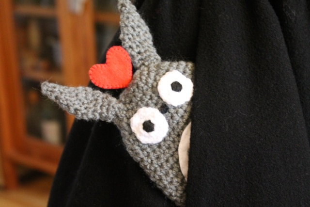 Totoro Key Cozy! Free pattern included
