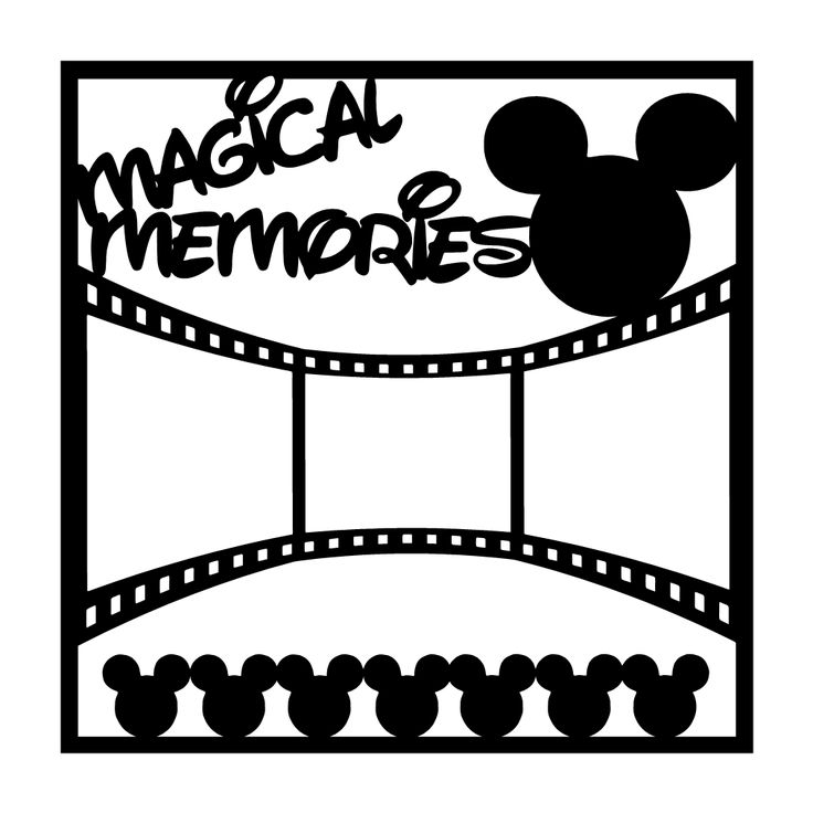 Magical Memories Scrapbooking Die Cut Overlay
