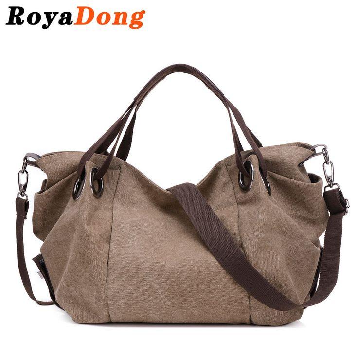 RoyaDong Women Shoulder Bag Crossbody Bag For Women Big Tote Canvas Shoulder Bags Vintage Color 2016