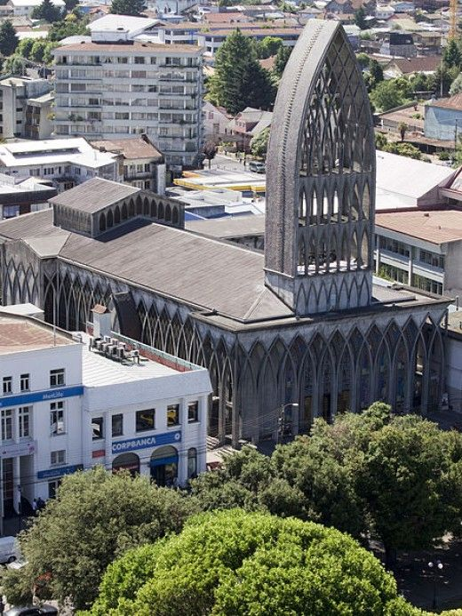 The Cathedral of St. Mathew, in Osorno, Chile. Built after the 1960 earthquake