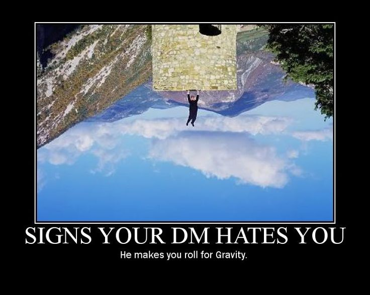 signs your DM hates you