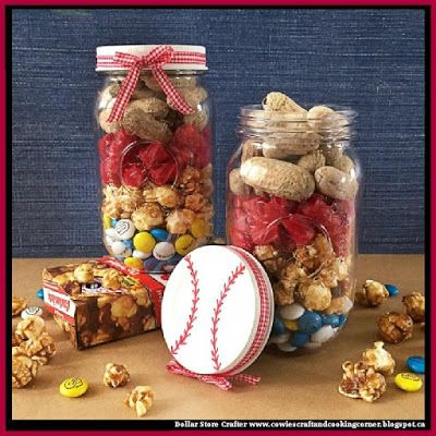 Dollar Store Crafter: Turn Mason Jars Into Baseball Themed Gifts Or Party Favors