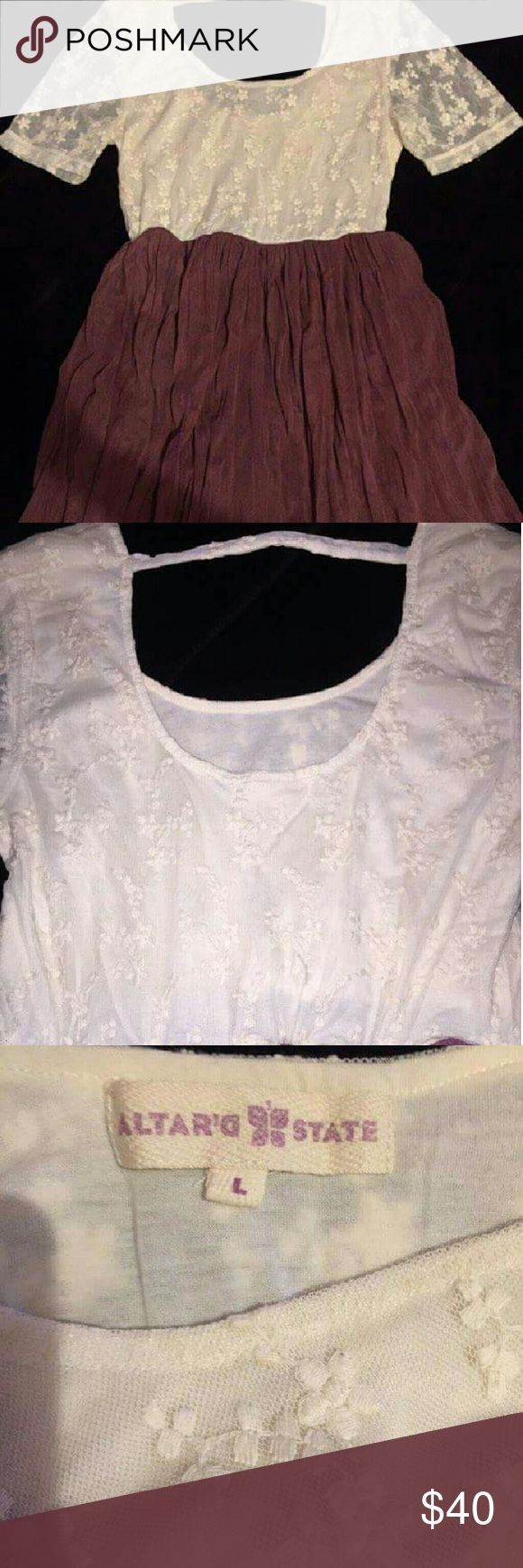 Altar'd state mid length dress Worn a couple of times, in great condition and still looks brand new! Altar'd State Dresses Midi