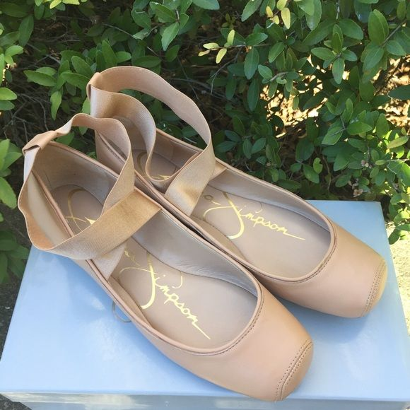 Jessica Simpson Mandalaye Flats- Natural Sleek- 7 **Make An Offer**Brand new, never worn adorable ballet flat.  Size 7.  Elastic ankle straps. Fits true to size.  Comes with box. Jessica Simpson Shoes Flats & Loafers