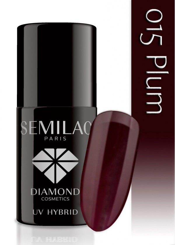 Semilac Lakier Hybrydowy 015 Plum 7ml