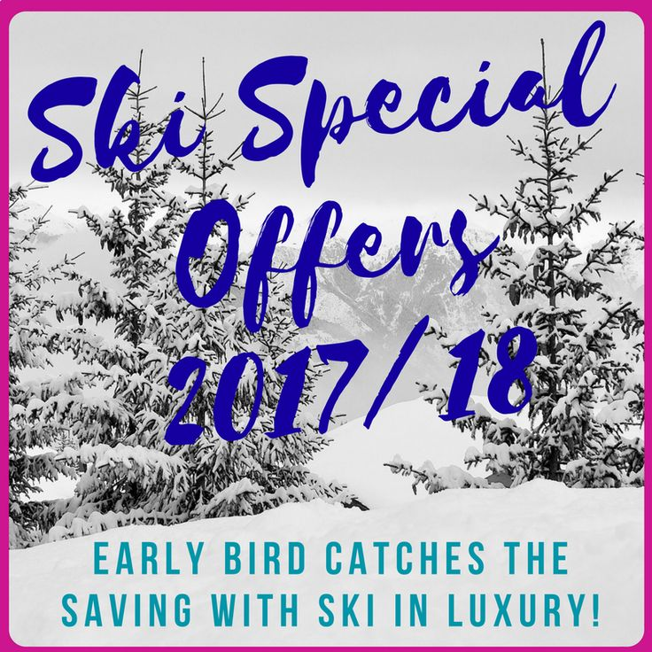 Find out about the best early bird ski deals & skiing special offers for the 2017/18 ski season. We have discounted luxury ski chalets and chalet freebies.