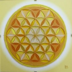 "Mandala Hand Glass drawing Mandala ""Květ Života"""