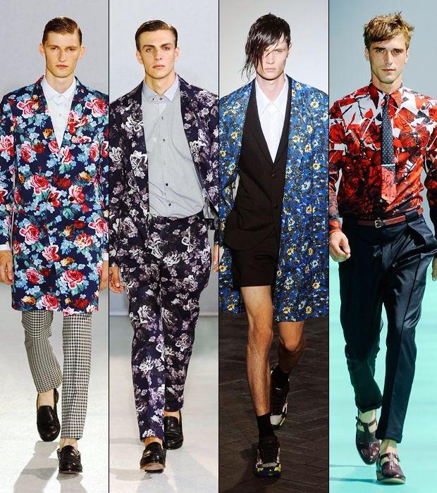 Men's Spring/Summer 2014 Fashion Trend Floral Prints