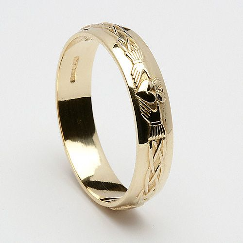 *****Sara's Ring*****Ida Claddagh Wedding Ring (C-357) - Claddagh Wedding Rings Ladies 14K