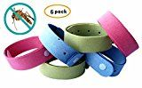 #3: Mosquito Repellent Bracelet 6 Pack  Deet Free Natural Insect & Bug Repellent Wristband Safe for KidsToddler & Adults  Microfiber Bands Good for Travel Outdoor Protection