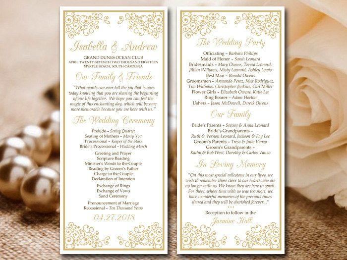 Best 25+ Diy wedding program template ideas on Pinterest Wedding - wedding template