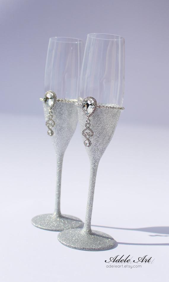 Champagner Hochzeit Floten Set Von 2 Hochzeit Glaser Etsy Wedding Glasses Wedding Champagne Glasses Wedding Champagne Flutes