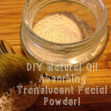 Translucent powder is so easy to make. It takes about four brisk steps. The result, is a silky, long lasting, oil absorbing powder that is as curative as it is fabulous. www.sojournersojourns.com