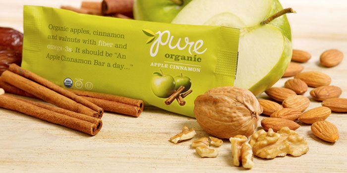 Pure, OrganicBars - The Dieline -