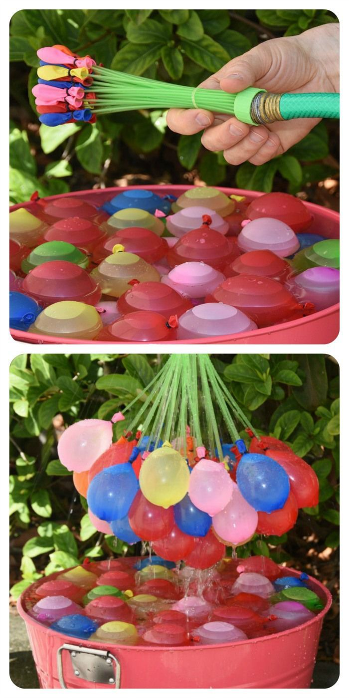 How to Fill & Tie Over 100 Water Balloons in a Minute. Fun Outdoor  Activities4th Of July Outdoor Games4th ...