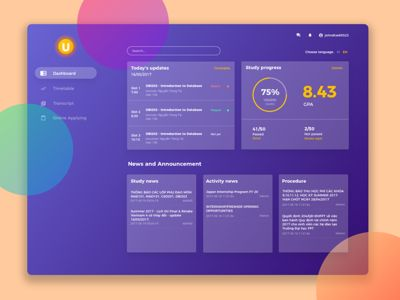 Student e-Learning Dashboard