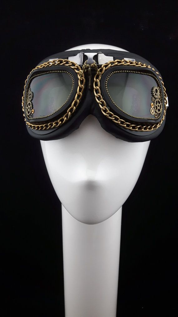 Burning Man Mad Max style Steam Punk Goggles