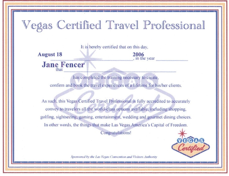 142 best certifications in travel images on pinterest las vegas certified travel professional janeworldtravelspecialistsz yadclub Image collections