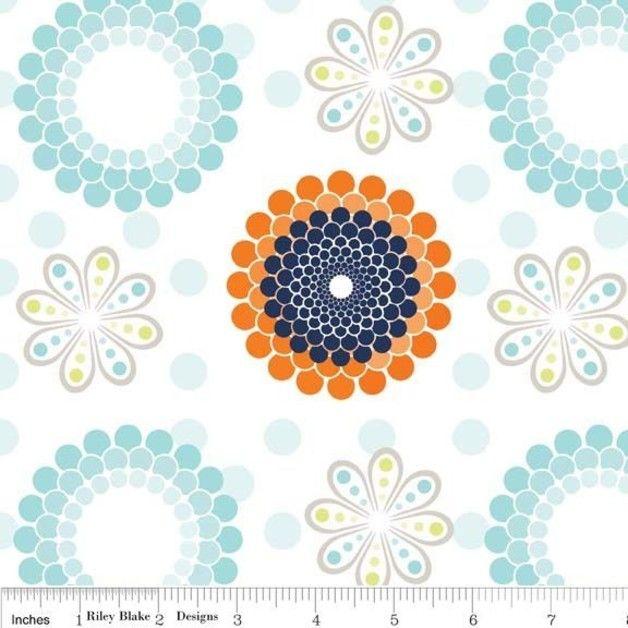 Stoff Blumen - Ashbury Heights, Riley Blake, Retro - Stoff - ein Designerstück von FrauFrech-und-HerrFroehlich bei DaWanda