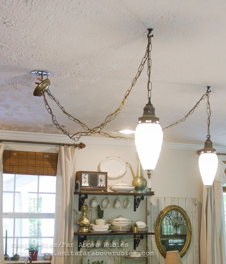 Far Above Rubies: Mid-century light fixture for the kitchen