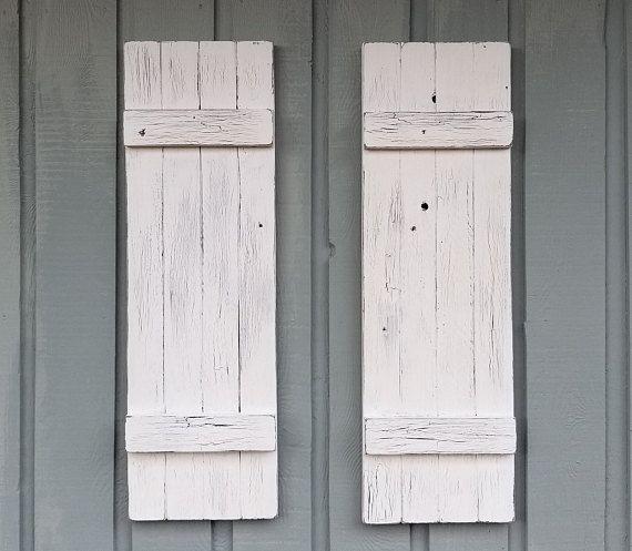 Vintage Style Wood Shutters Decorative Shutters Rustic Shutter