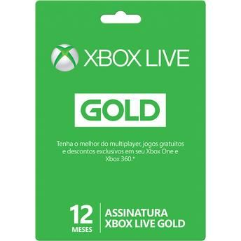 [LiveGoldMob] Cartão Xbox Live Gold 12 meses por R$ 137,05 ou R$ 159,00 Walmart