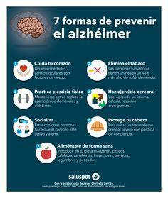 7 formas de prevenir el alzheimer: Elimina el consumo de tabaco, haz ejercicios mentales y ejercítate. Si quieres conocer más recomendaciones visita nuestro artículo http://tugimnasiacerebral.com/trastornos-mentales/recomendaciones-para-la-enfermedad-del-alzheimer-y-tratamiento #Infografia #Alzheimer #Prevencion #Gimnasia #Cerebral