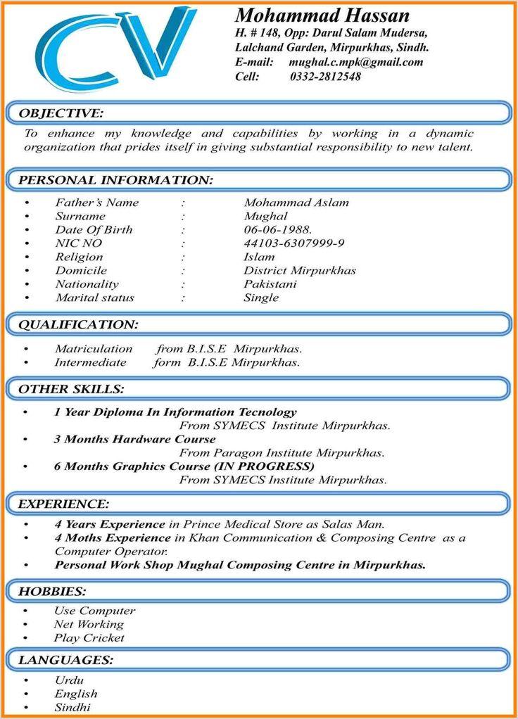 Standard Cv format for Pharmacist in 2020 Job resume