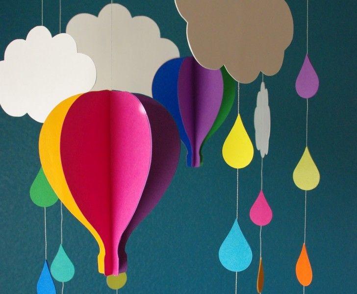 ballong mobil moln papperspyssel tips inspiration pyssel ide papper diy
