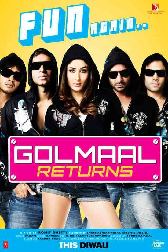 Golmaal Returns (2008) Hindi Movie Download Free