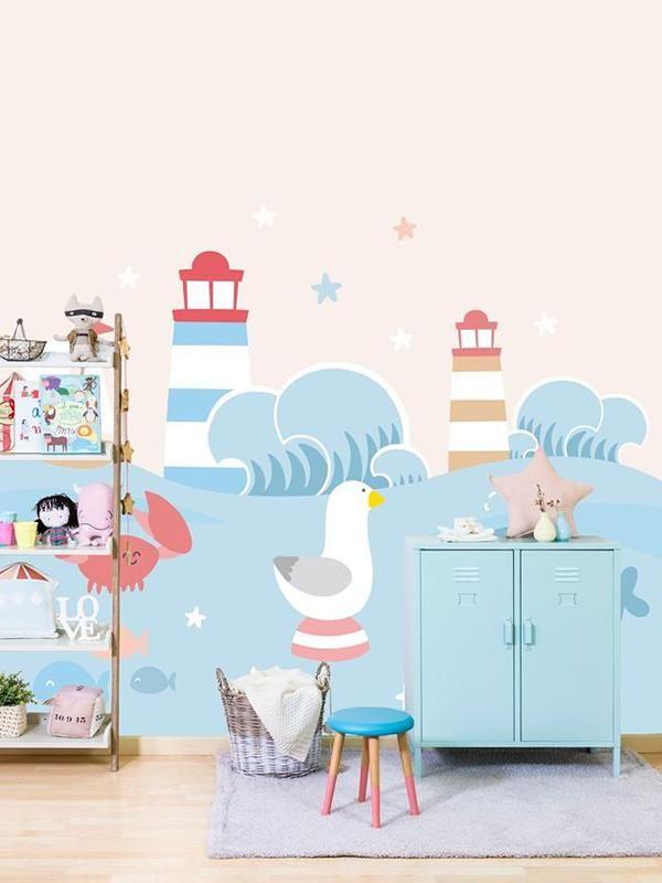 Mejores 92 im genes de papel pintado para beb s en - Papel habitacion bebe ...