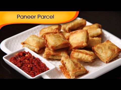 Paneer Parcel - Quick Easy To Make Party Starter / Crispy Snack Recipe B...