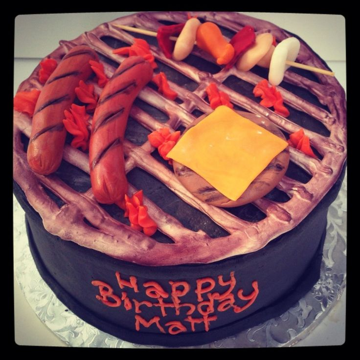 Grill Cake By MamaBakesCakesnet My Cakes Pinterest