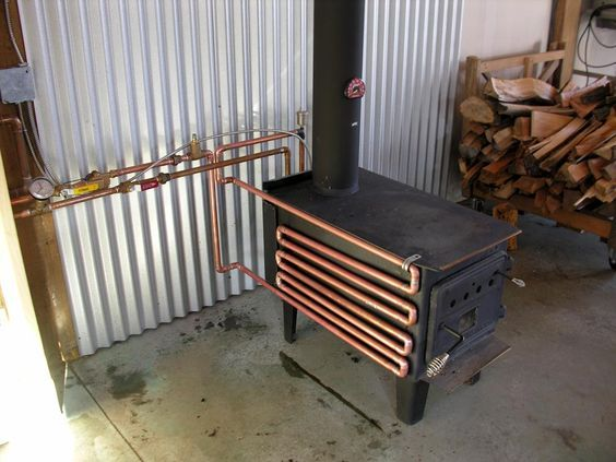 Have Unlimited Free Hot Water With This Easy To Make Woodstove Attachment