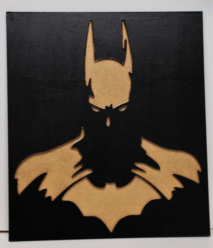 Cuadro bajo relieve BATMAN