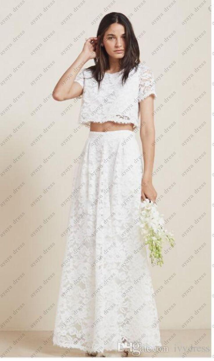 >> Click to Buy << wejanedress lace mermaid wedding dresses two piece vestido de boda berta camo wedding dress vestidos de novia sirena 2017  #Affiliate