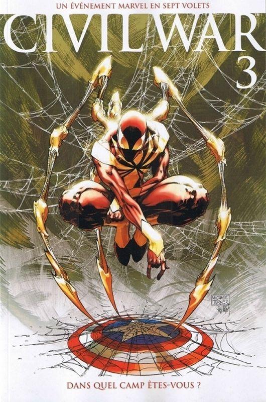 """Civil War N°3, variante par Michael Turner """"2000ex"""" (Panini comics)"""