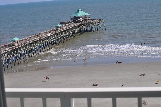 View From Our Balcony Folly Beach Sc The Tides Pinterest