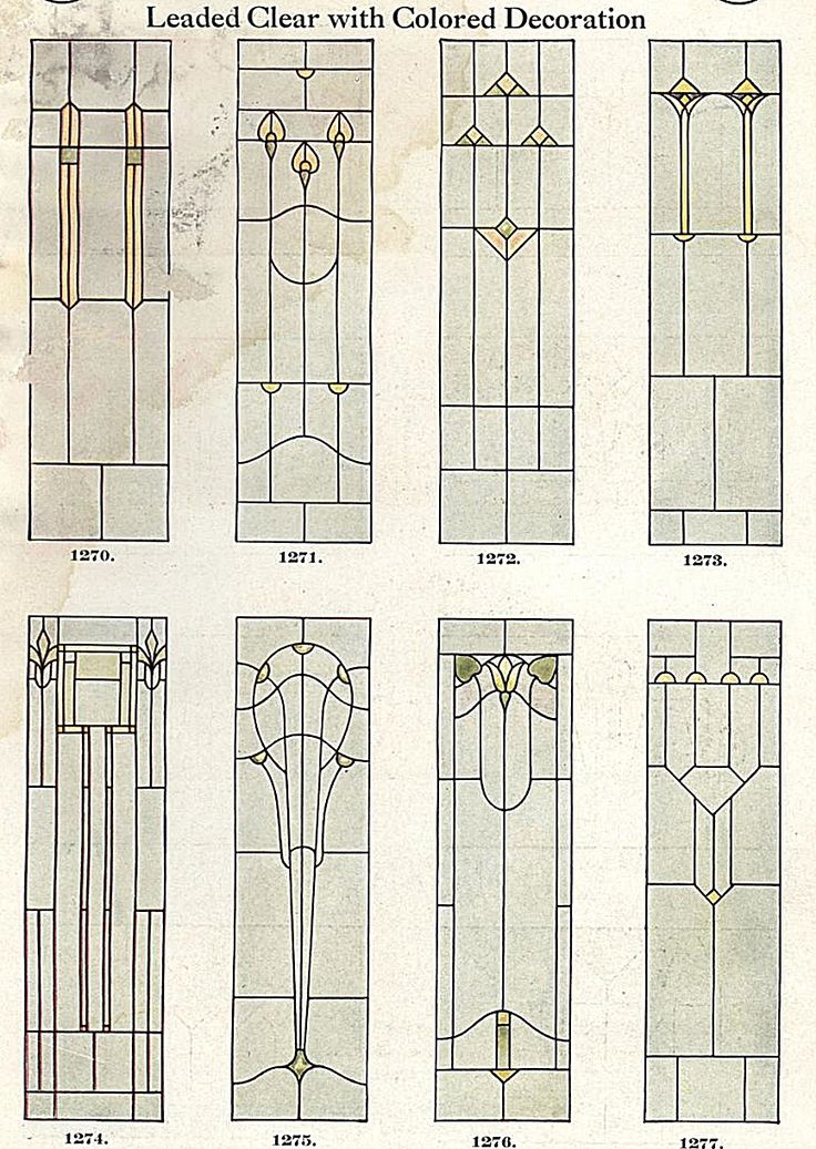 Stained glass window designs, 1923