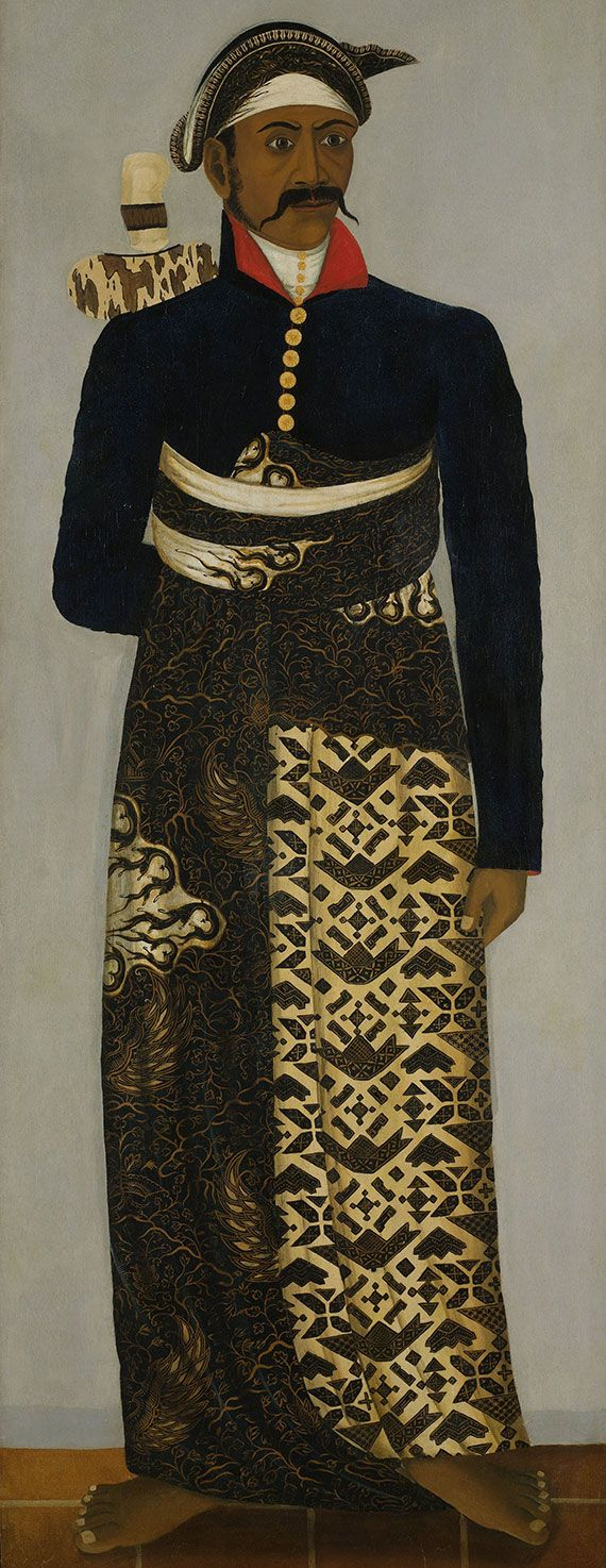 early 19th century portrait of a Javanese court official. - The Rijksmuseum - Dutch national museum