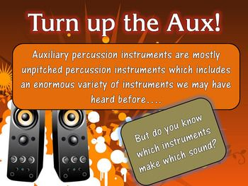 Identifying Auxiliary Percussion Instruments