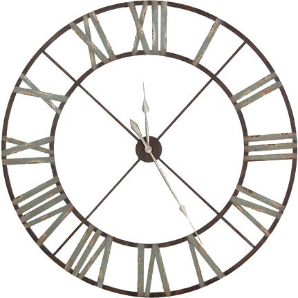luxurious large iron wall clock
