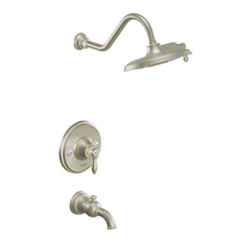 MTS32104EPBN/MOE2510 Weymouth One Handle Tub & Shower Faucet - Brushed Nickel at FergusonShowrooms.com