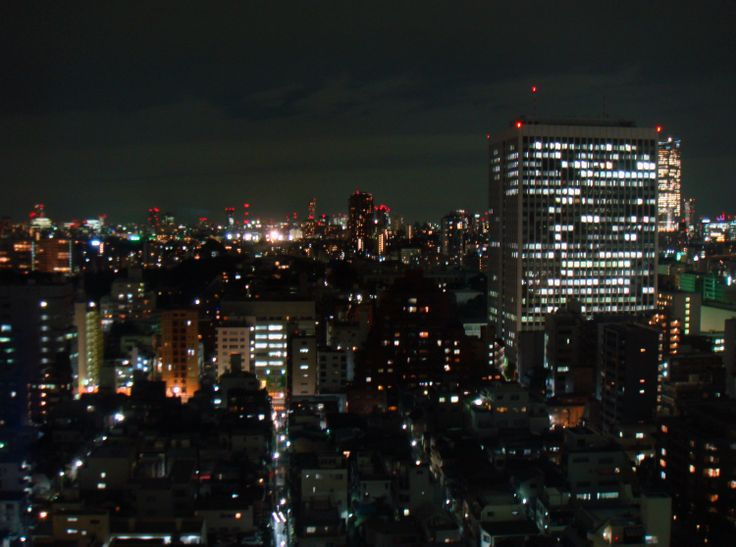 Pennanen Design @ Hirameki -exhibition at Tokyo. Nightime view - Tokyo is amazing!