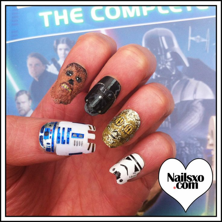 The 88 best Star Wars nail art images on Pinterest | Star wars nails ...