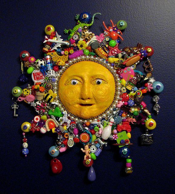 Re-Purposed Jewelry Art ❊ Sun