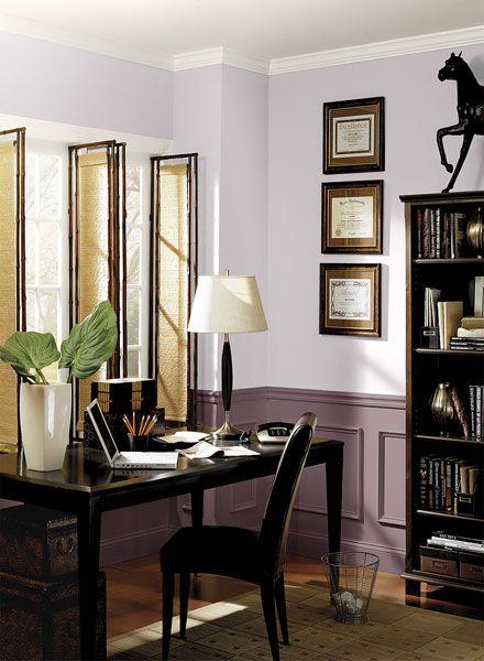 Benjamin Moore home office purple paint color palette