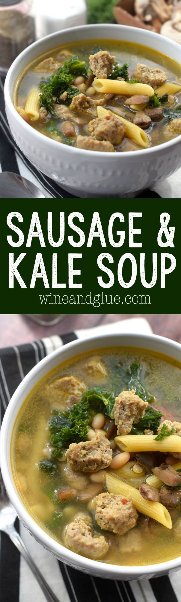 This Sausage and Kale Soup is a family favorite that we eat a few times a month…