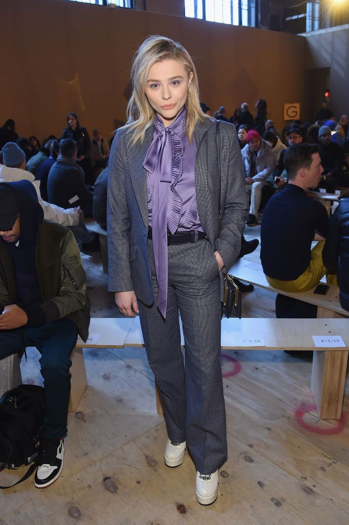 Chloe Grace Moretz attends Coach 1941 fashion show at the NYSE on