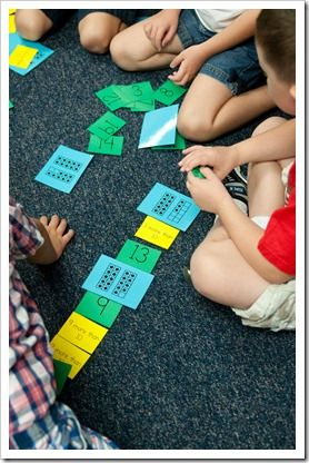 Fun idea for working with tens frames and numbers ... it's a riddle match!
